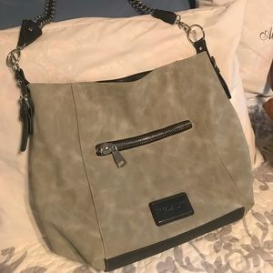 Like new Grey suede tote